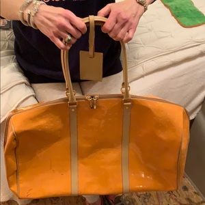 Orange ARCARDIA leather weekend bag!